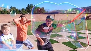 DIY Super Giant Crazy Bubbles In Our House - Bubble Thing