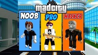 🔥 NOOB vs PRO vs HACKER - MAD CITY ROBLOX