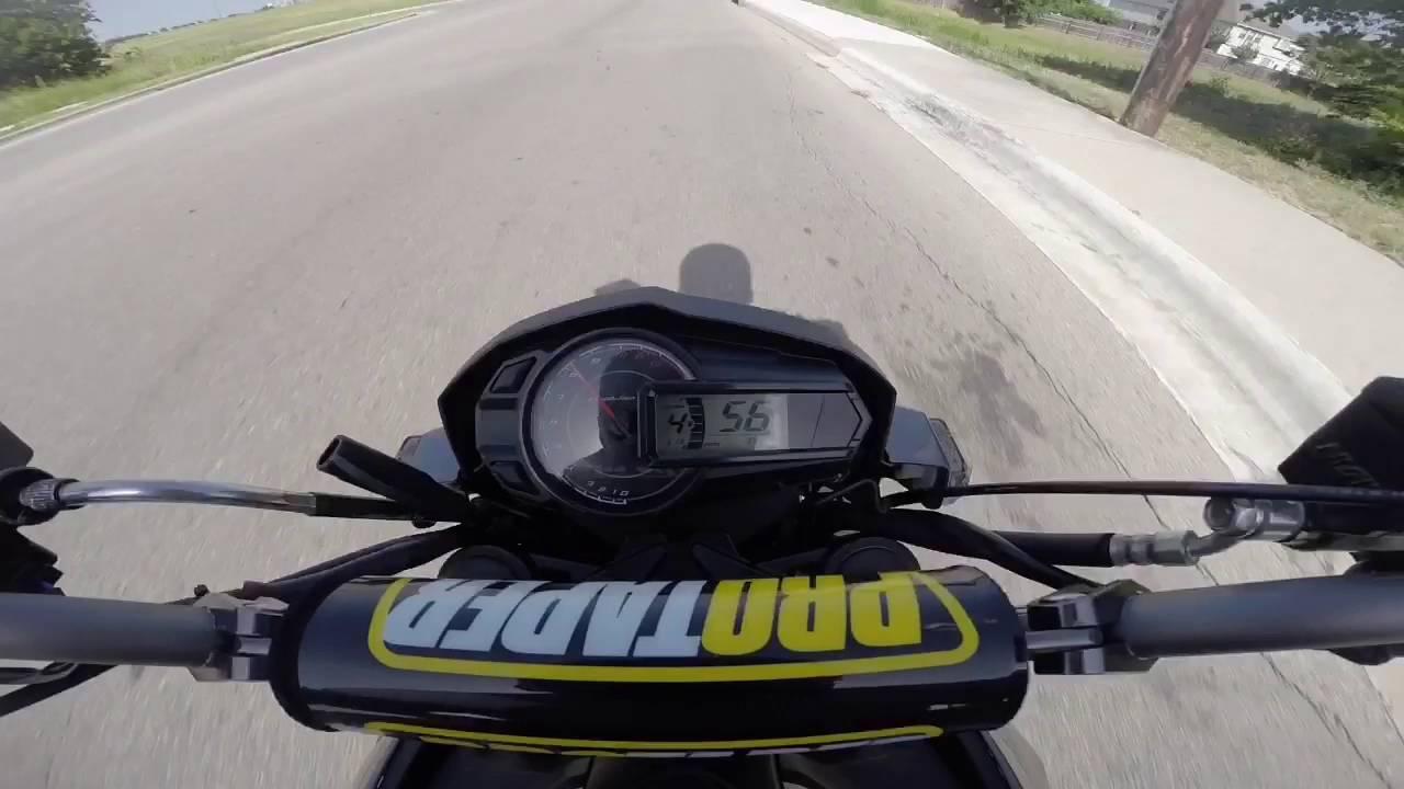 Kawasaki Z125 Pro - First Ride With The Pro Taper KLX110 Handlebar