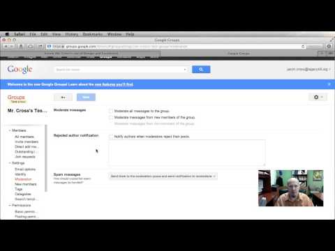 Using Google Groups to set up Web Forum Part 2 mp4