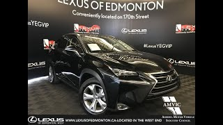 Lexus Certified Pre Owned Black 2016 NX 200t Executive Package Review - Calgary, Alberta