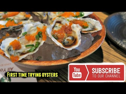 Trying oysters for the first time! | The Robles Family
