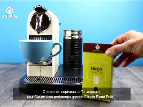 How to make a Cappuccino with a Nespresso Machine? - YouTube