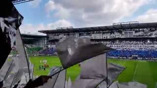 DSC Arminia Bielefeld - Hannover 96, Choreo (18.09.2016, 3:3, 2. Bundesliga, 2016/17, 5. Spieltag)