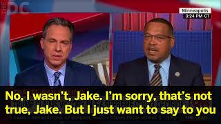 Keith Ellison Grilled By CNN's Tapper Over Former Support For Anti-Semite