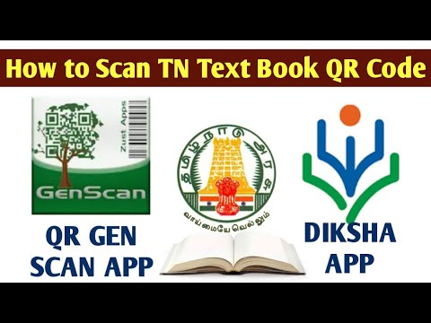 DIKSHA   How to scan TN  Govt  Book QR Code using the DIKSHA and QR GenScan  app in tamil