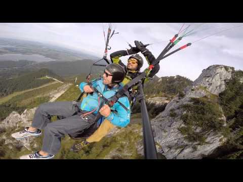 Paragliding over the Neuschwanstein Castle in Germany