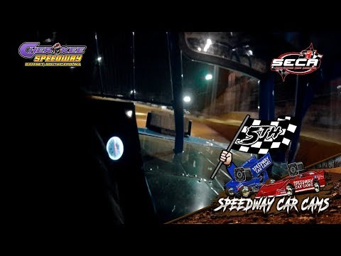 #08 Calob Mclaughlin - Heat - SECA Crate - 4-21-18 Cherokee Speedway - In Car Camera