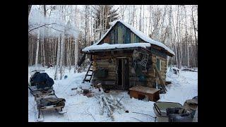 Таежная изба Часть 2 Охота на соболя Зимняя рыбалка на горной речке