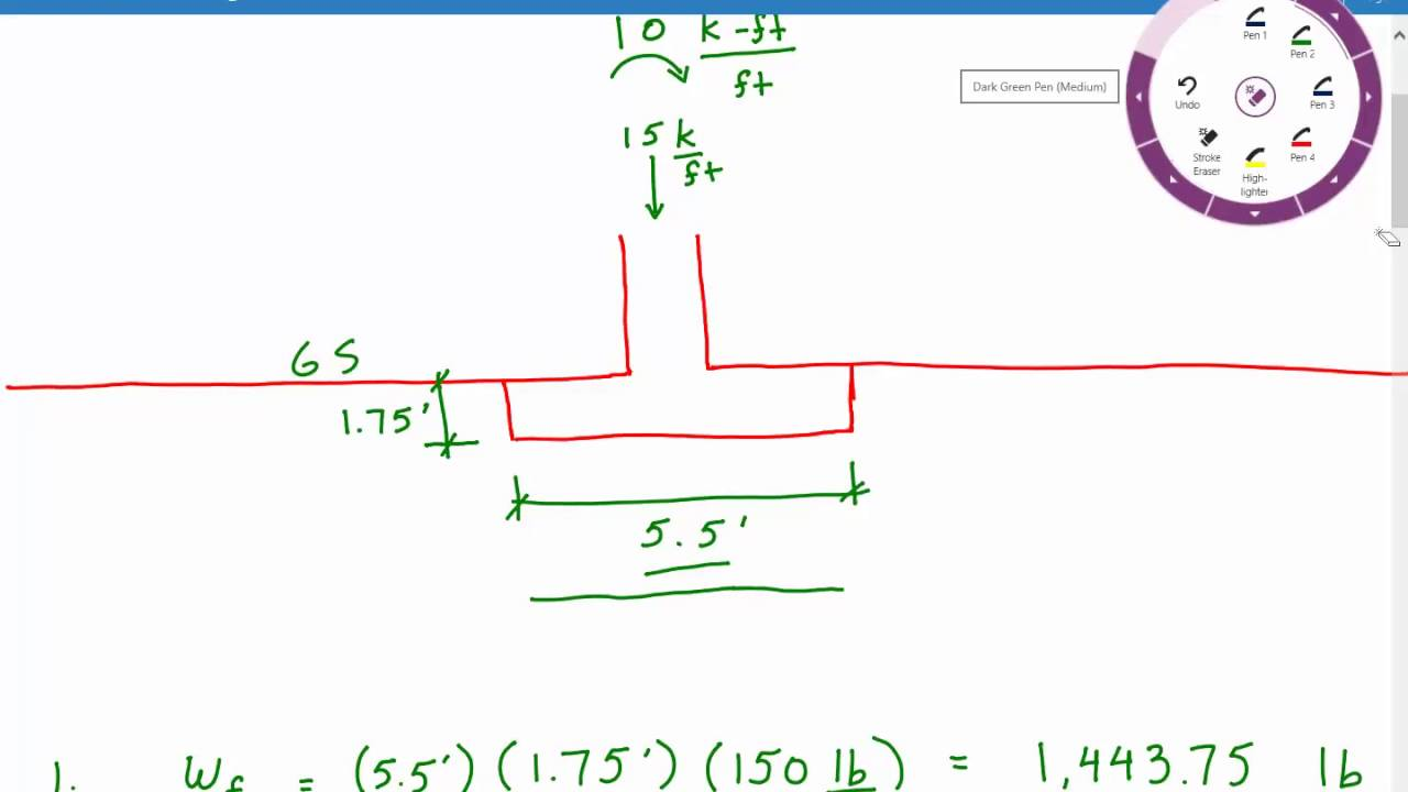 Calculating bearing pressure for foundation with moment ...