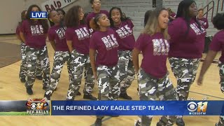 CBS 11 Pep Rally: Rowlett High School's Refined Lady Eagle Step Team