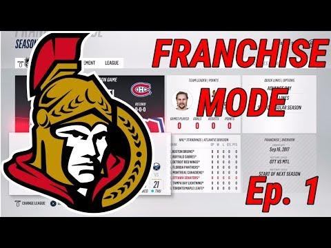 CANADA'S CAPITAL - NHL 18 - Franchise Mode - Ep. 1 - Ottawa