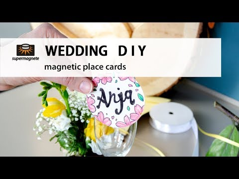 WEDDING DIY | Magnetic Place Cards [super easy]