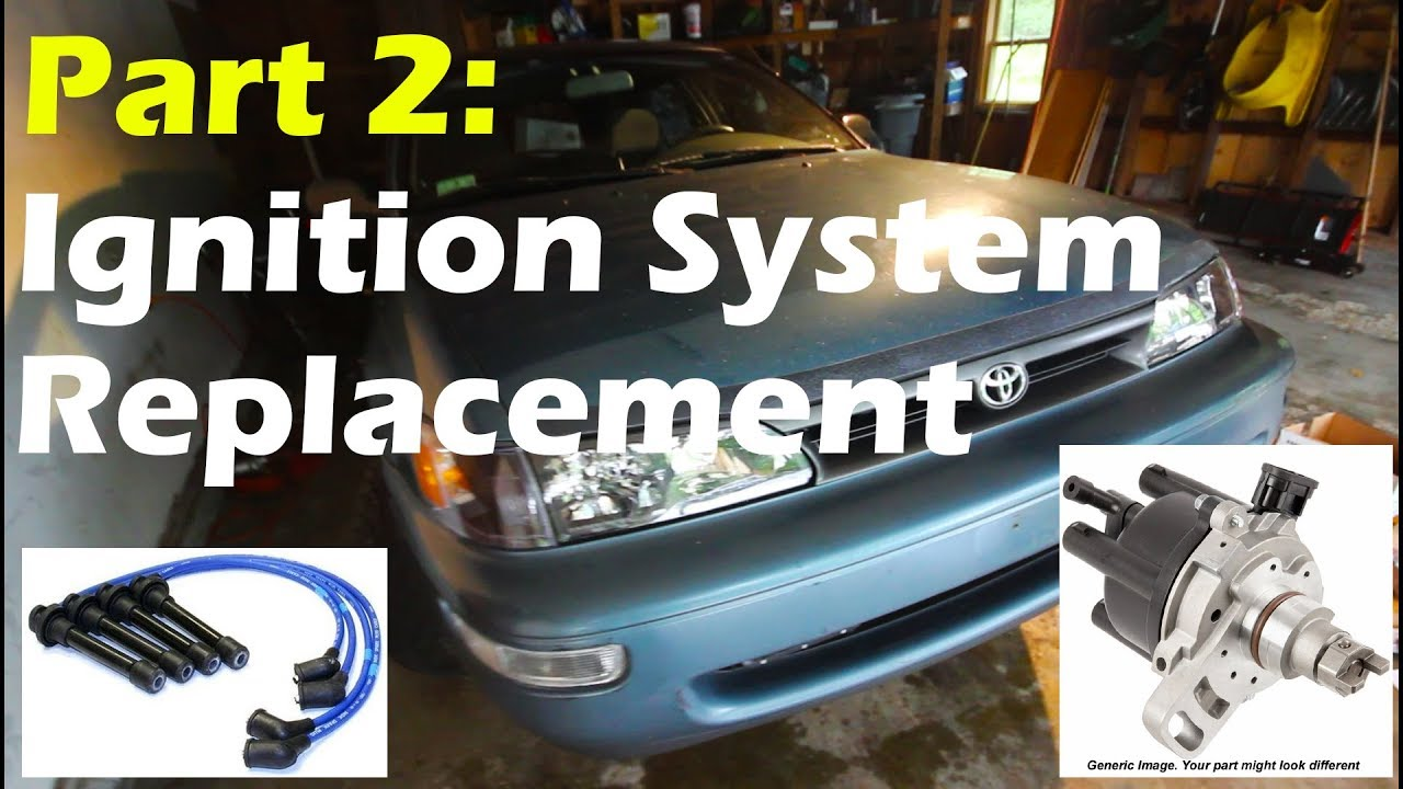 medium resolution of distributor and spark plug wires replacement on a 93 97 corolla
