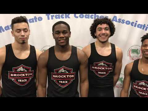 Brockton Boys Post Fastest Time in Massachusetts in the 4x400 at MSTCA Last Chance Meet! 2-10-19