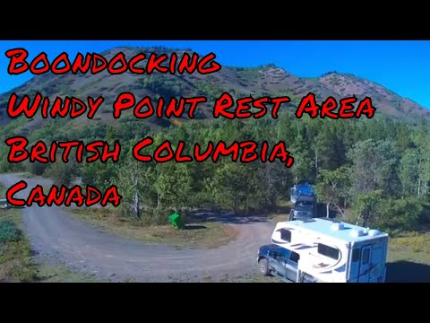 Boondocking Windy Point Rest Area, Telegraph Creek Rd, British Columbia, Canada