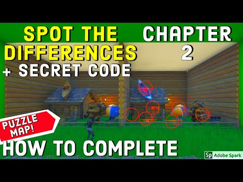 Spot The Differences Chapter 2 + Secret Code By Derponce 6278-1230-9351 Fortnite Creative Puzzle Map