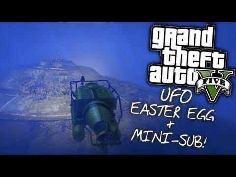 GTA V: Underwater UFO Easter Egg & Mini-Submarine! (SPOILER ALERT)