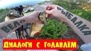 Вело рыбалка на Днепре ! Диалоги с Голавлем :)