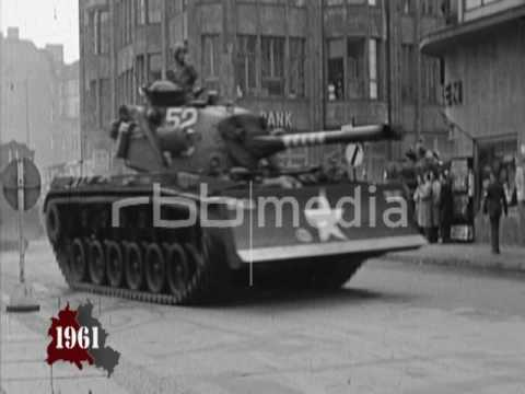 Stand-off at Checkpoint Charlie Berlin - October 1961