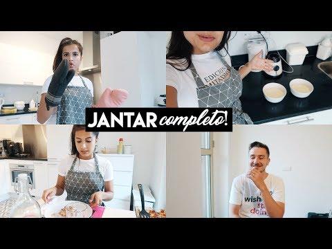 JANTAR COMPLETO: entrada, prato principal e sobremesa! #VanessanaCozinha