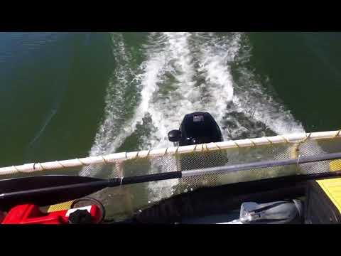 Hobie Cat 16 Pontoon Fishing Boat ( Modified) Performance Test