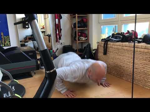 Kleiner Sporttest am frühen Sonntagmorgen. Geht doch mit der Fitness! Sport frei...;-)