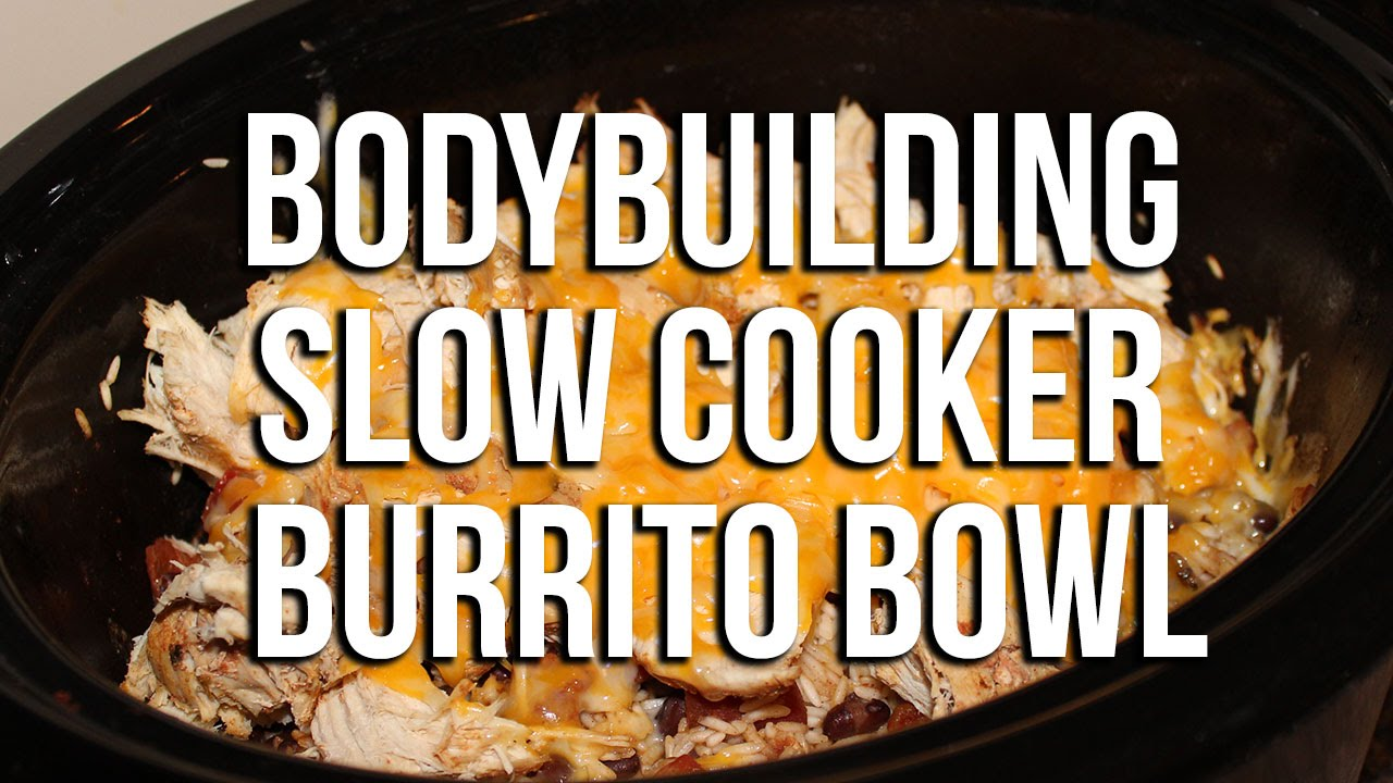 slow cooker chicken and rice burrito bowls