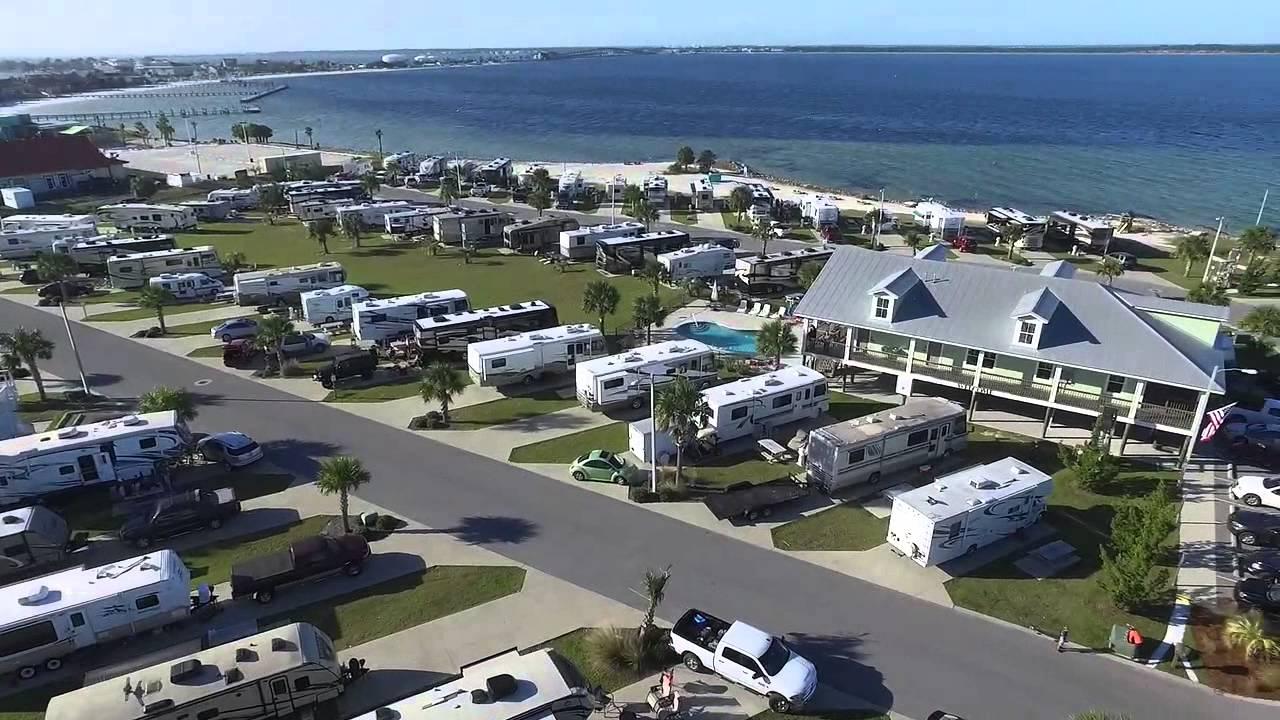 A Quick Aerial Tour Of Our Pensacola Beach Rv Resort