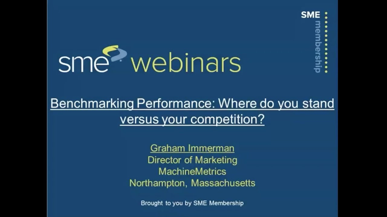 Benchmarking Performance Where do you stand versus your competition