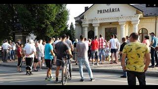 PROTEST ÎMPOTRIVA RROMILOR DIN EDINEȚ