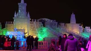 Ледяные скульптуры в Парке Победы Москва 2018