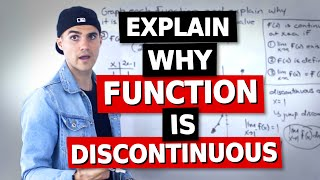 MCV4U (Grade 12 Calculus & Vectors) - Explain Why Function is Discontinuous