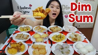 DIM SUM FEAST! Crispy Spring Rolls, Fried Dumplings, BBQ Pork Puffs, Egg Tarts | Eating Show Mukbang