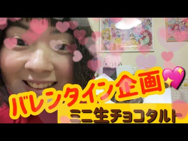 【バレンタイン企画】ミニ生チョコタルト🍫ただいまいかちゃん🦑