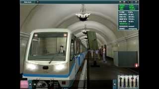 "Real Moscow metro line ""Русич"""