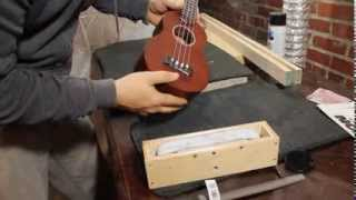 Lanikai Tuna Uke: How to lower the bridge saddles