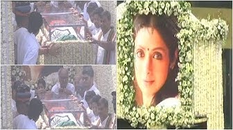 Sridevi's last journey begins first picture of husband Boney & daughter Jhanvi