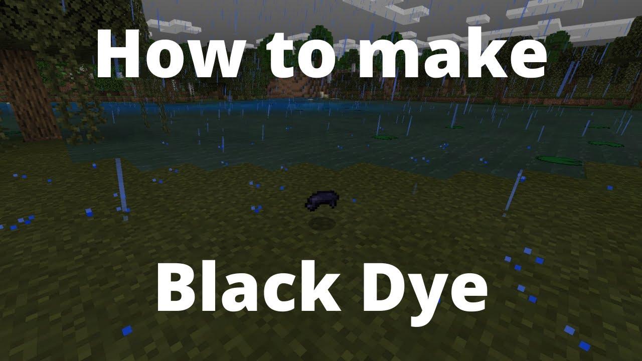 How to make black dye: Minecraft - YouTube