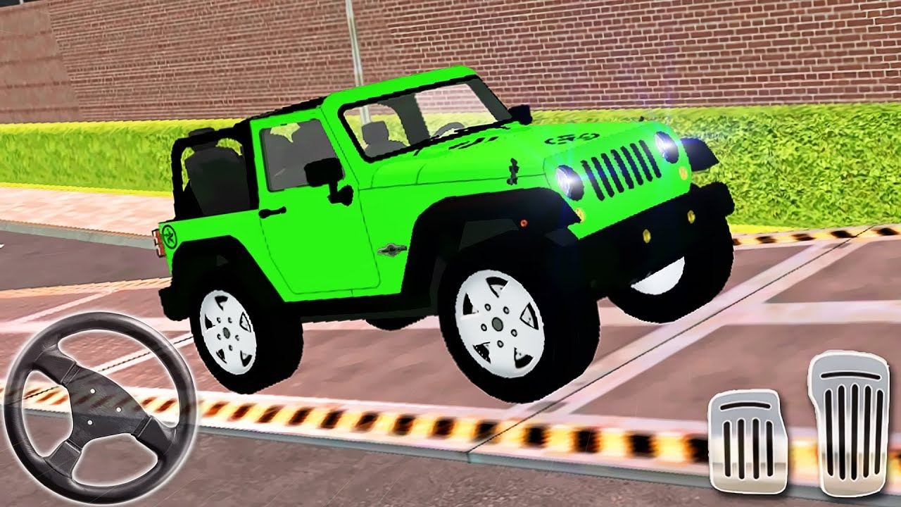 My Holiday Car Red Sport Car Green Jeep Driving Android