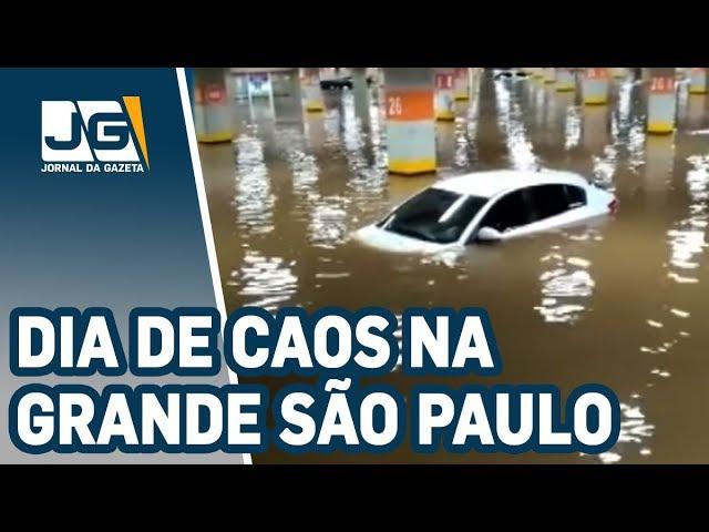 Dia de caos na capital e grande São Paulo: Uma pessoa morreu afogada próximo à Av. do Estado