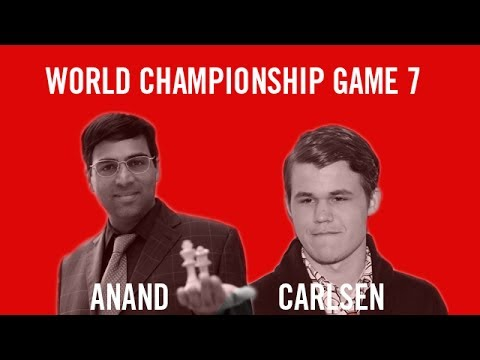 World Chess Championship 2013 Anand vs Carlsen Game 7