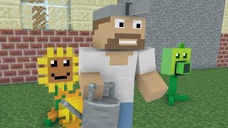 Minecraft vs Zombies Crazy Dave Kill Big Brainz Minecraft Animated Movie