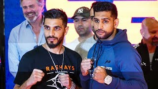 Amir Khan SURREAL SCENES, arrives in Saudi Arabia, faces down Billy Dib