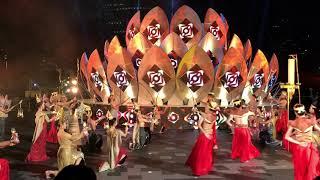 ICONSIAM- THE LIGHT OF SIAM SHOW PERFORMANCE. BANGKOK, THAILAND