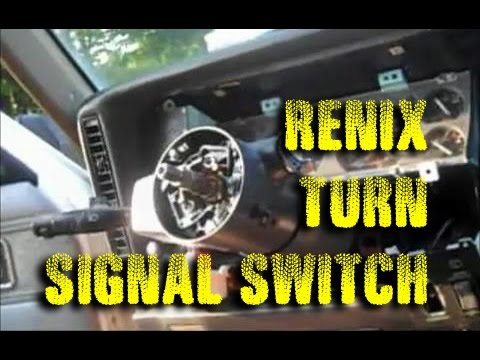 Replace Turn Signal Switch 1990 Cherokee Youtube