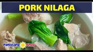 Filipino Pork Nilaga Soup or Boiled Pork Soup with Potato and Bok Choy is a type of soup with clear broth. It is traditionally eaten with rice along with a dip ...
