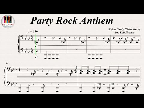 Party Rock Anthem - LMFAO feat. Lauren Bennett and GoonRock, Piano