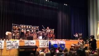 Percussionist Tony Vacca in Swampscott, Massachusetts