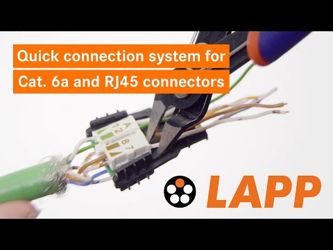 HowTo: Quick Connection System For Cat. 6a Cables And RJ45 Connectors